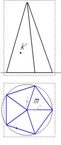kak nayjti proekcii tochek na piramide
