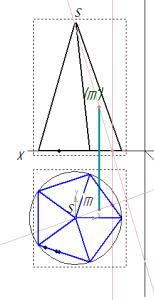 proekci tochki M na piramide