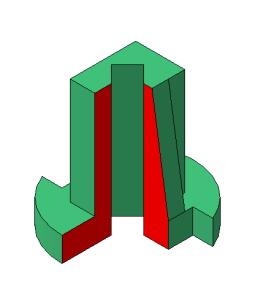 aksonometriya s vihrezom chetverti korpus