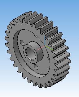 modelj zubchatogo kolesa