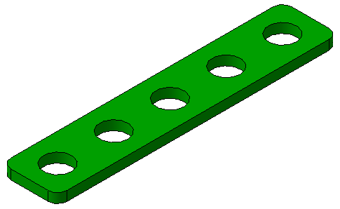 parametricheskaya modelj detali planka