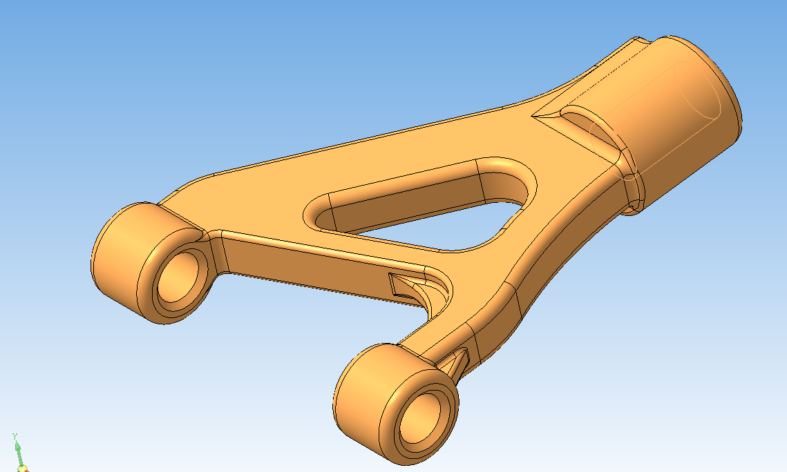 model' rychaga v Kompas 3D